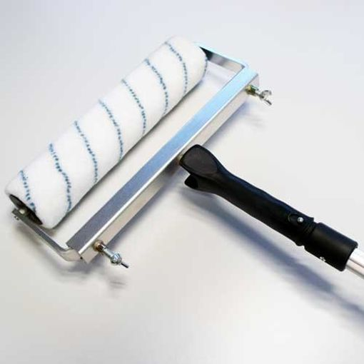 Rouleau de 31 cm à poils moyens avec Cadre et Manche télescopique